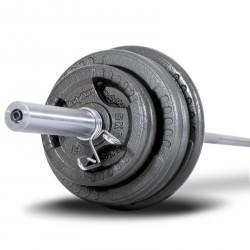 BodyMax 100Kg Olympic Cast Iron Tri-Grip Weight Set (7ft Bar)