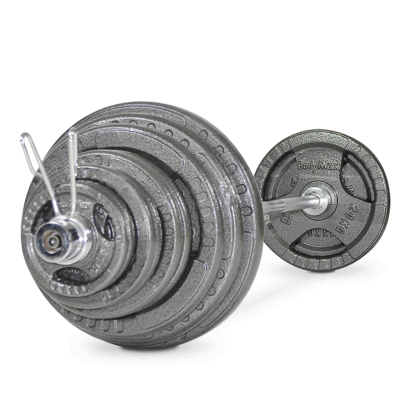 4 x 1.25Kg Bodymax Olympic Cast Iron Tri-Grip Weight Disc Plates
