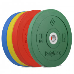 BodyMax Coloured Olympic Rubber Bumper Plates