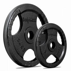 BodyMax Olympic Cast Iron Tri-Grip Weight Disc Plates - 8x1.25kg