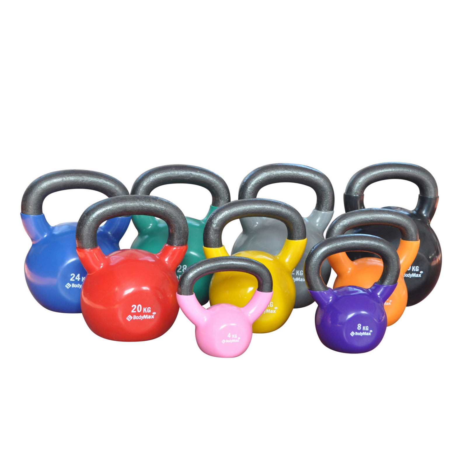 Bodymax Kettlebells Cast Iron Vinyl Coated Powerhouse