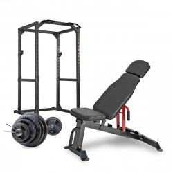 BodyMax CF475 Premium Strength Package - includes: - Rack, Bench, 145kg Rubber Olympic Weight Kit & Plate Loading High/Low Pulley System