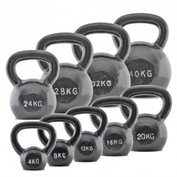 BodyMax Grey Cast Iron Kettlebells - 4/6/8kg Set