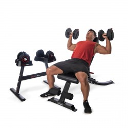 BodyMax 50lb/22.5kg Selectabell Dumbbells (PAIR), Storage Rack and CF330 Utility Bench
