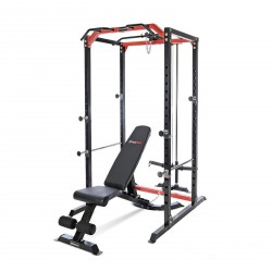 BodyMax CF385+ Power Rack, CF328+ Utility Bench & Disc Loading Pulley System