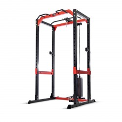 BodyMax CF485+ Power Rack with High/Low Cable Pulley Attachment & 95kg Weight Stack