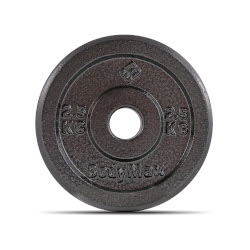"BodyMax Cast Iron 1"" Standard Weight Plates - Light Grey"