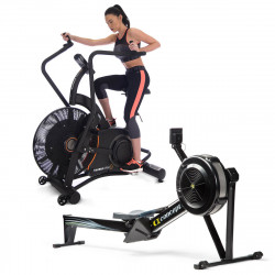 Concept2 Model D Rowing Machine with PM5 Monitor & Taurus Air Bike Ergo-X